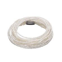 Kranz og Ziegler Storyarmbånd hvide perler