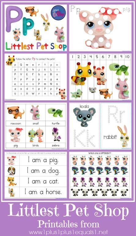 Littlest Pet Shop {free} Printables from www.1plus1plus1equals1.net