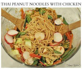 Thai Peanut Noodles with Chicken: Chicken, We Re Healthy, Thai Peanut ...