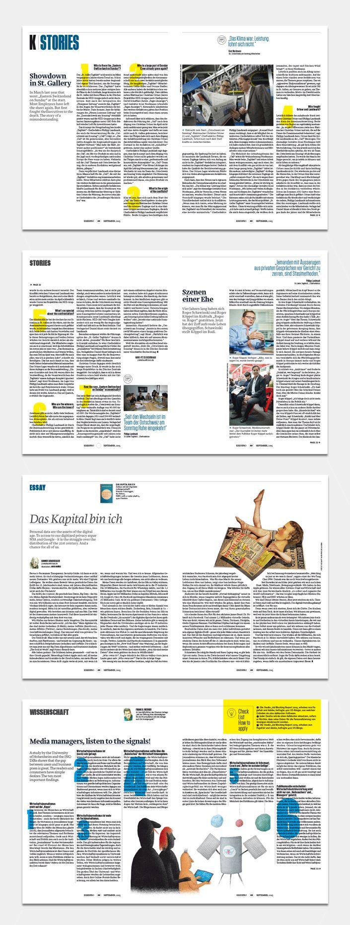 Conceptualización y proyecto gráfico de la revista alemana Kress Pro.
