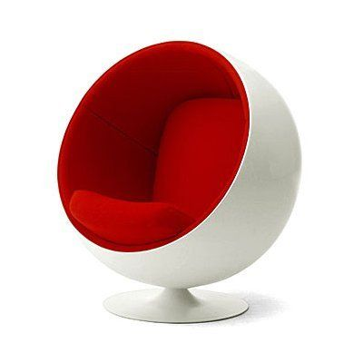 Eero Aarnio Ball Chair, c. 1966. Always wanted one of these, but haven't been brave or wealthy enough to acquire one. Yet. (This design really comes in at the tail-end of mid-century modern movement, thus its inclusion here. It's more mod than mid-century mod, but it's still awesome.)