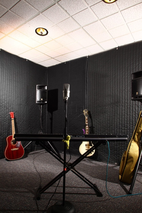 Sound Reduction Curtain for Soundproofing Existing Walls | Noise Proof Your Band Room - Audimute Soundproofing
