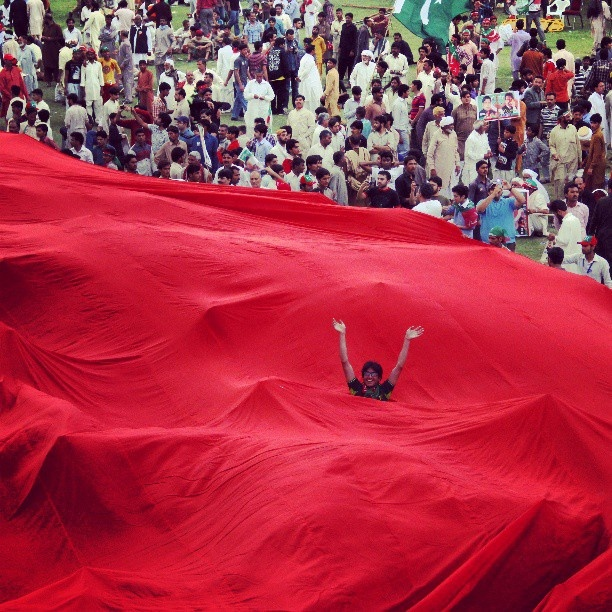 PTI jalsa @ minaar-e-pakistan. #pakistan #politics #lahore - @Fawad Awan- #webstagram