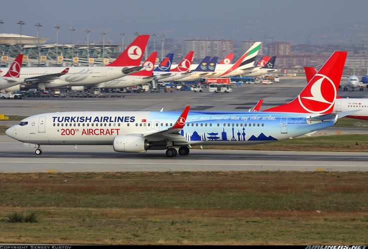 Turkish Airlines Boeing 737-9F2/ER | 200th aircraftt livery