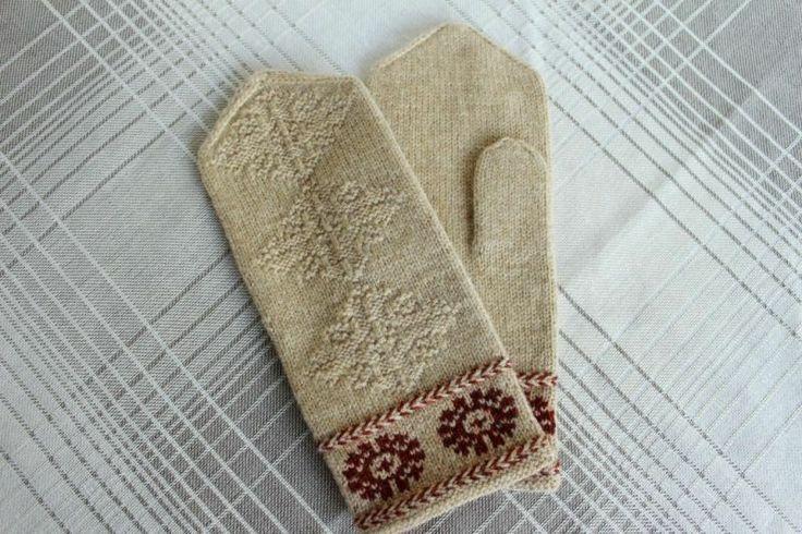 ラトビア 伝統柄のミトン 4