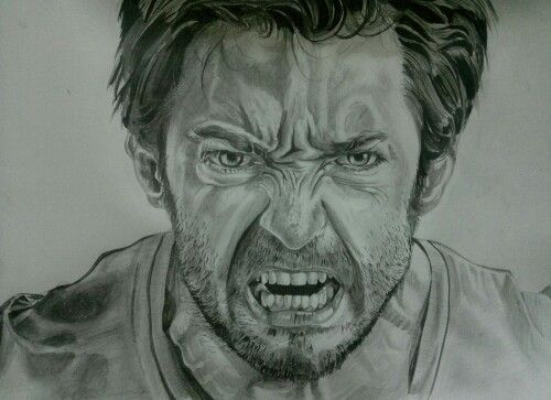 Hugh Jackman... Drawing by me