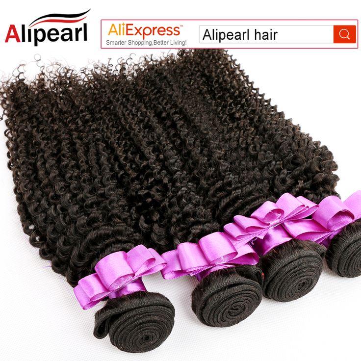 "Ali Pearl Hair Peruvian Virgin Hair Kinky Curly 6 Bundles Unprocessed Virgin Hair 8''-30"" Grade 8A Peruvian Human Hair Bundles"