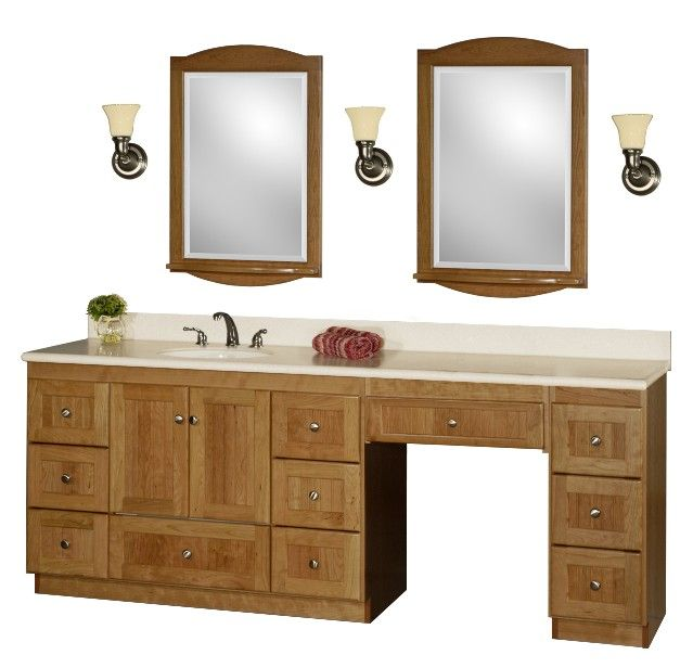 60 inch bathroom vanity single sink with makeup area google search rh pinterest com Bathroom Vanity Combos Sale Small Bathroom Vanity Sink Combos