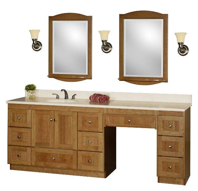 60 inch bathroom vanity single sink with makeup area google search rh pinterest com Rustic Bathroom Vanities and Sinks 36 Bathroom Vanity with Sink