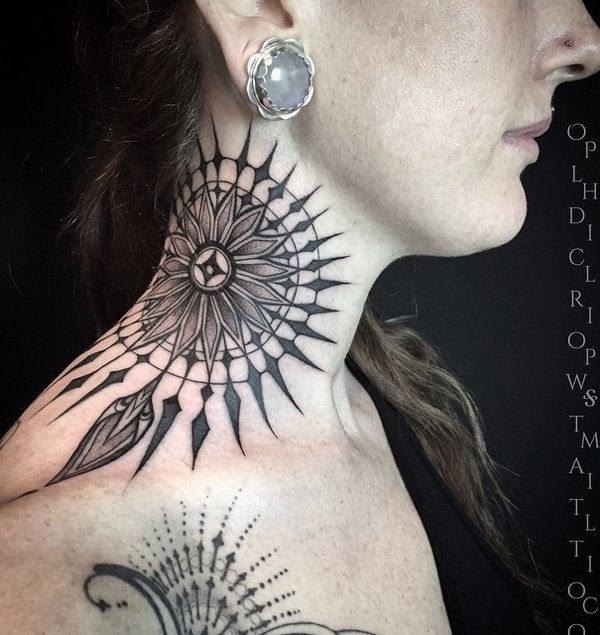 145 Neck Tattoos That Will Make A Statement: 1000+ Ideas About Mandala Tattoo Neck On Pinterest
