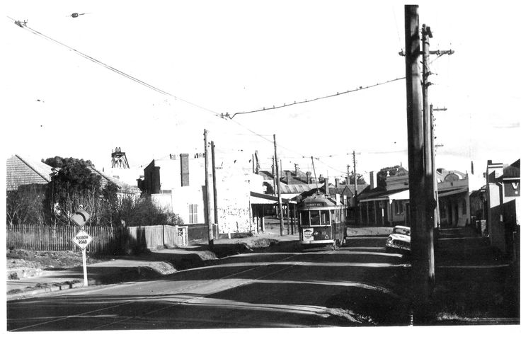 You can see in this photograph of Long Gully ( looking south east ) taken back in the 1950's why there was the perceived need to widen the road, hence the demolition of the old Mechanics' Institute building.
