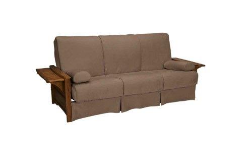 Bellevue Perfect Sit & Sleep Transitional-style Pillow Top Full-size Futon Sofa, Black
