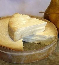 I love stinky cheese!  Stinky Bishop is a member of the pasteurized cow's milk washed-rind family, but the rind here is bathed in perry, an alcoholic pear cider, and develops a stinky, pungent, orange-colored, sticky rind.