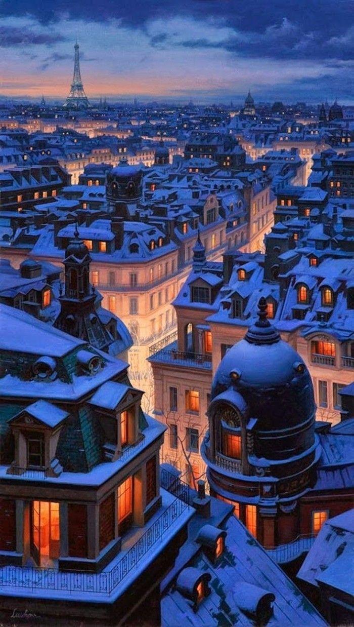 Toit de Paris enneigé                                                                                                                                                                                 Plus