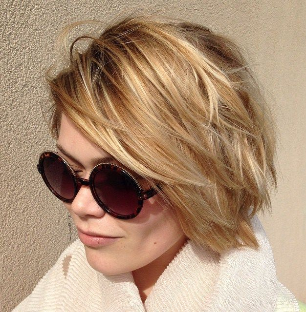 Tousled Blonde Bob                                                                                                                                                                                 More