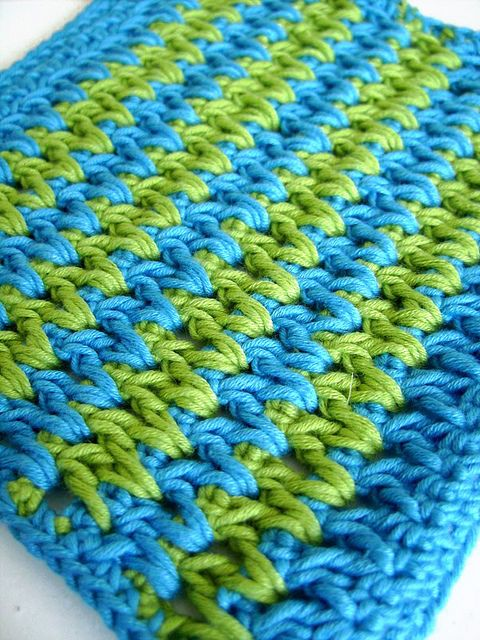 Pretty stitch, dishcloth: Limes Turquoise, Stitches Potholders, Pretty Stitches,  Dishcloth, Stitches Pretty, Pretty Color, Crochet Stitches, Pretty Rugs, Crochet Patterns