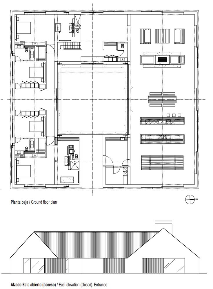 Baron Summer House by John Pawson  floorplans