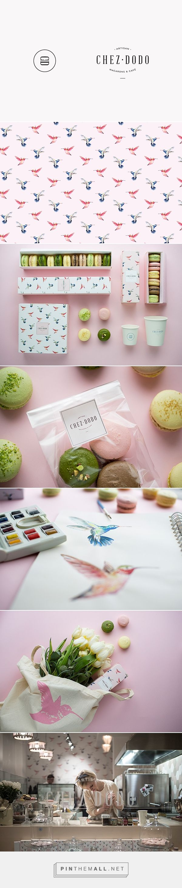 CHEZ DODO on Behance by Estzer Laki curated by Packaging Diva PD. Yummy macaroon or maracon packaging branding.