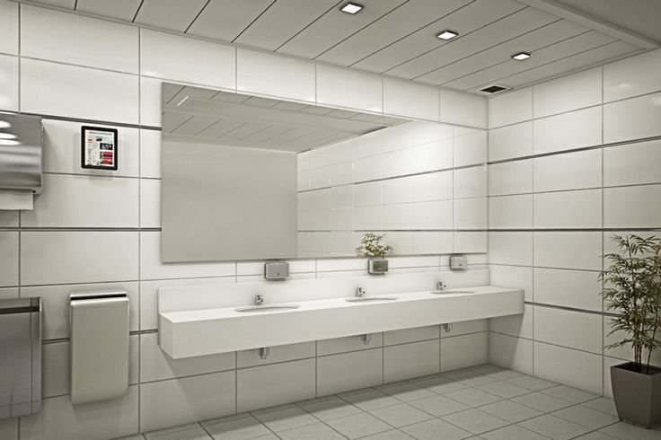 Toilet room at an office building design by dana shaked for Washroom interior design