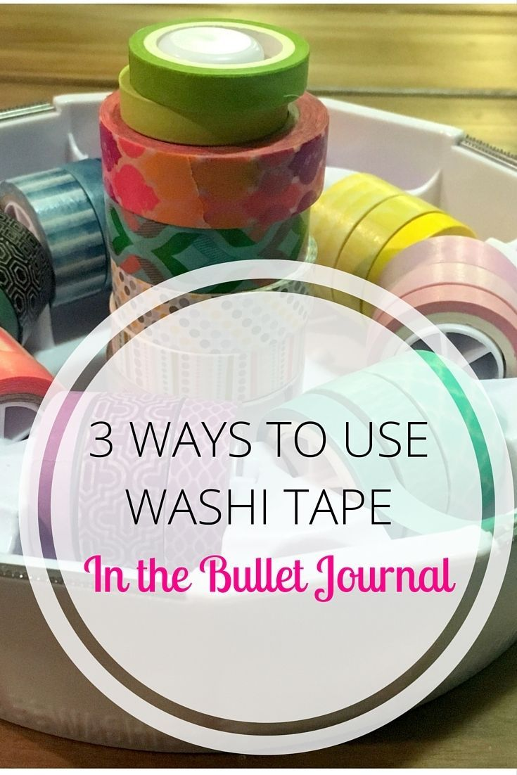 Ways to use Washi Tape in the Bullet Journal #washitape #craft #bulletjournal