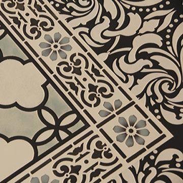 Border Stencils | Classical Border & Corner | Royal Design Studio  Stair tread?