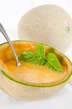 Iced Cantaloupe Soup With Jalapeno And Basil - I'm intrigued!