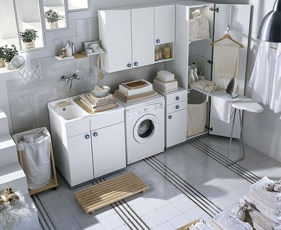 decorating a small narrow powder room | IKEA Laundry room Cabinets design Inspiration for Your Laundry room ...