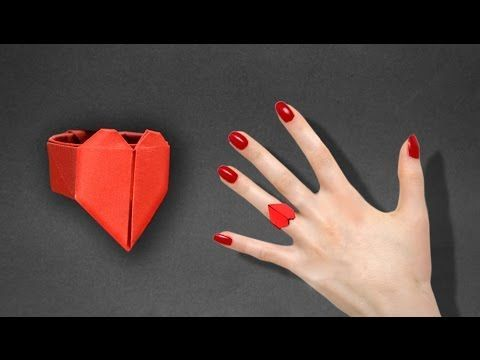 Origami: Heart Ring - Instructions in English ( BR ) - YouTube