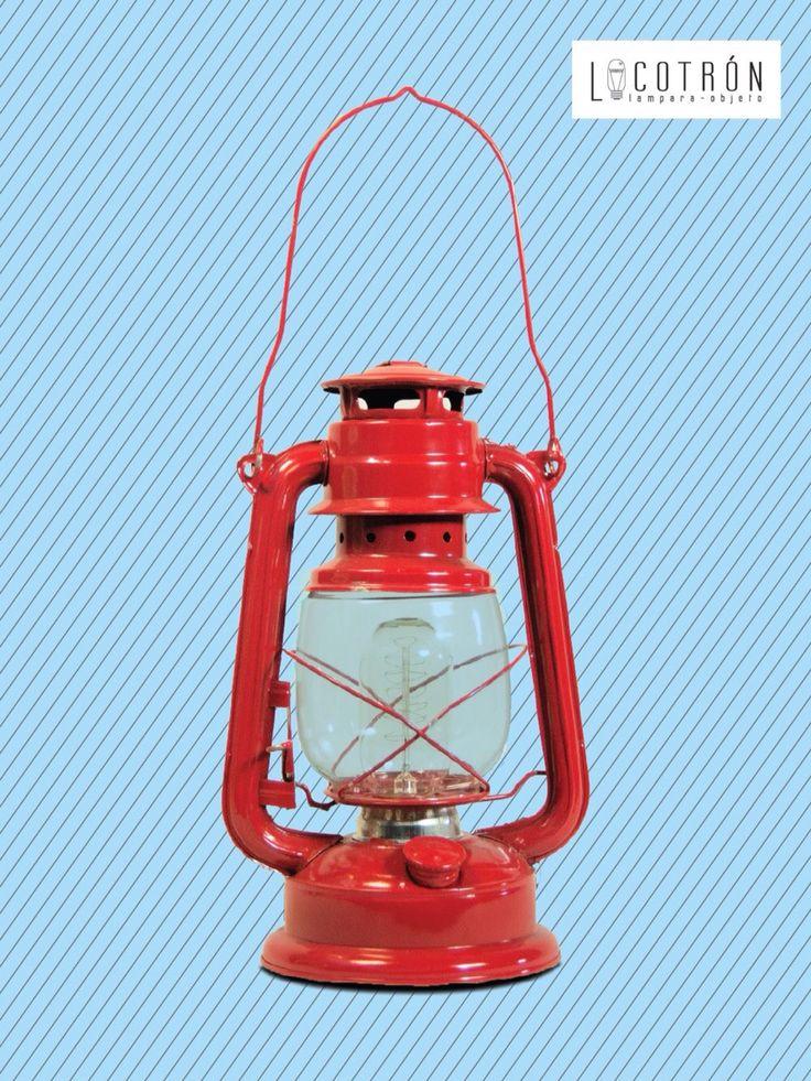Colección: Quinqué Modelo:Rojo Dimensiones: Altura 30cm Ancho 18 cm Fondo 10 cm Encendido:Touch Precio:$750