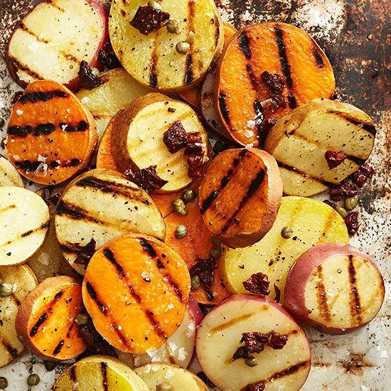 Party Menu: Grilled Potato Slices
