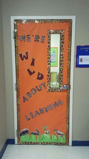 Wild About Learning Door Classroom Welcome Kindergarten