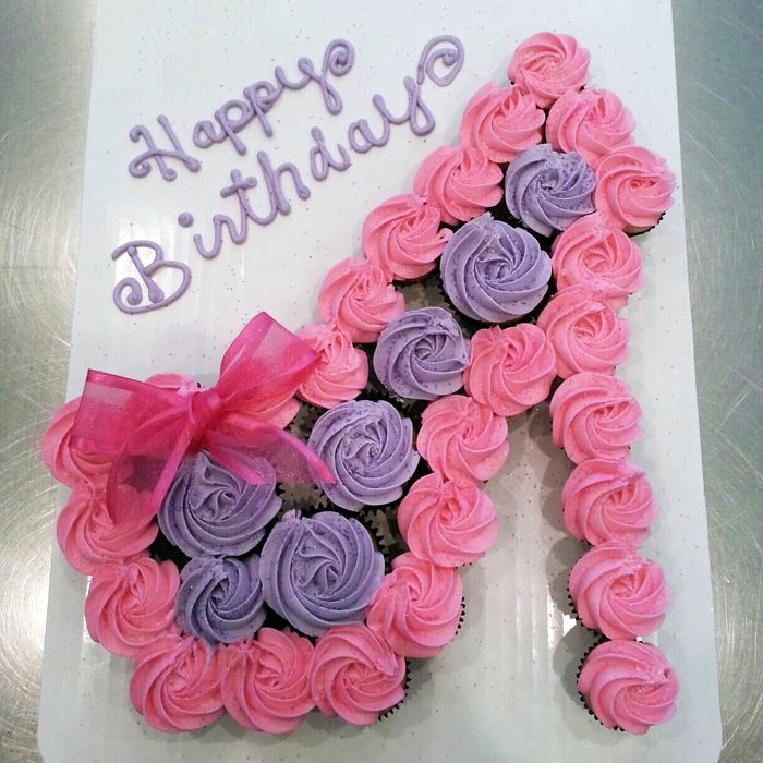 Birthday Cake Ideas Made Out Of Cupcakes : Shoe cupcake cake cake cake cake cake.... Pinterest
