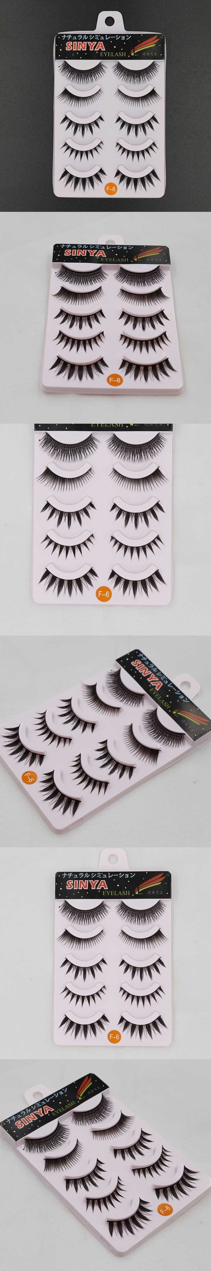 10 Pairs Crisscross Thick 3D Mink Eyelashes Extension False Eye Lashes Cilios Posticos Naturais Faux Cils Nep Wimpers F-6x2