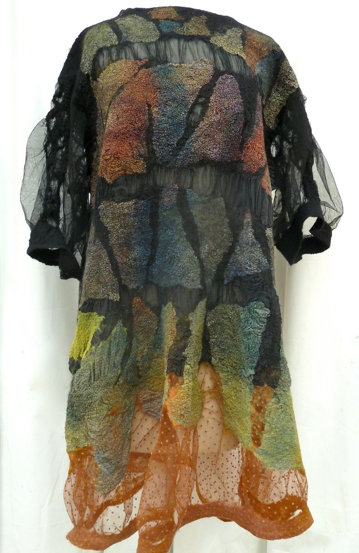 Elynn Bernstein/A Mano Studio - seamless nuno-felted tunic dress