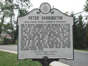 Peter Harrington- Revolutionary Officer Greensboro, Caroline County MD 480 (Main Street) at Cedar Lane, southwest corner