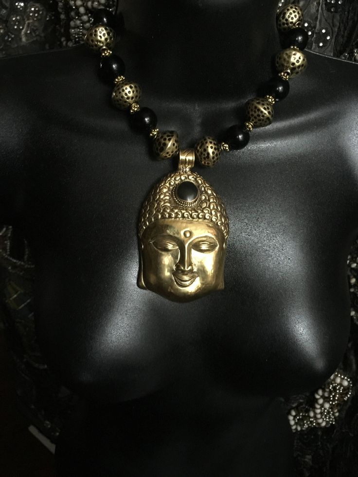 My Golden Buddha Necklace, Spiritual, Pendant, Chunky, Handmade, Bold, Namaste,Ethnic,Bohemian, Buddhism, Boho, Meditation by StoneLoveArtJewelry on Etsy https://www.etsy.com/listing/519607570/my-golden-buddha-necklace-spiritual