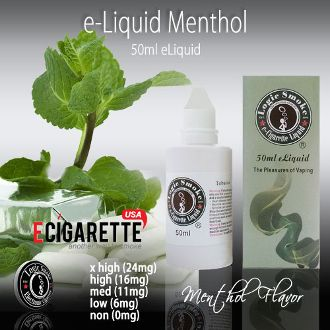 Cool, refreshing, minty taste of a menthol cigarette without the tar, smoke and smell of a mentholated tobacco cigarette. The cool chill of the menthol, as it hits your throat, sends a relaxing sensation throughout.  #50ml #Menthol #eliquid #ECigaretteUSA