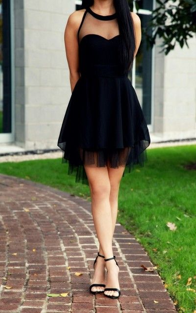 Simple Black Short Prom Dresses,Cocktail Dress,Real Made Homecoming Dress,Graduation Dress,Party Dress F78