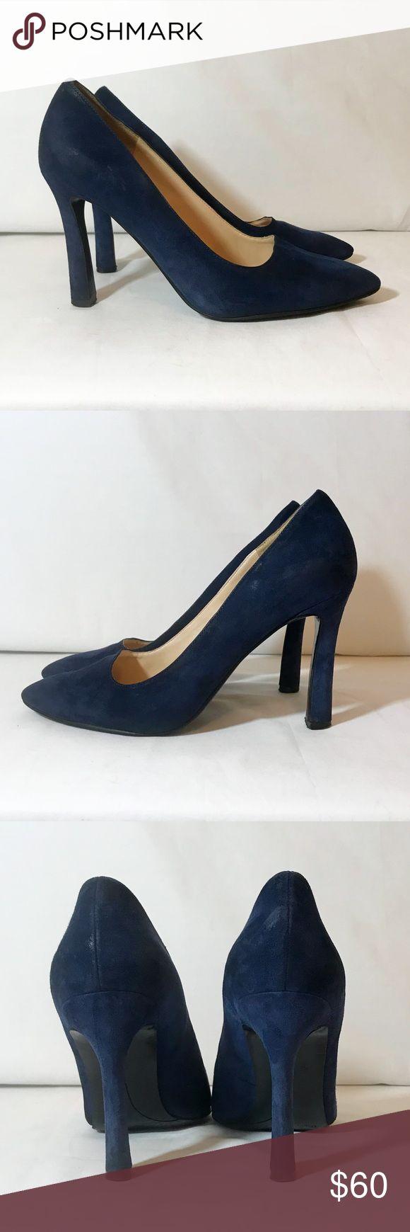"EUC Nine West Navy Blue Suede pumps size 8.5 EUC Nine West Navy Blue Suede pumps size 8.5. Heel is 4"". Beautiful shoes and look gorgeous on! Shoes Heels"