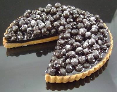 Fake Food Blue Blueberry Torte Slice Out