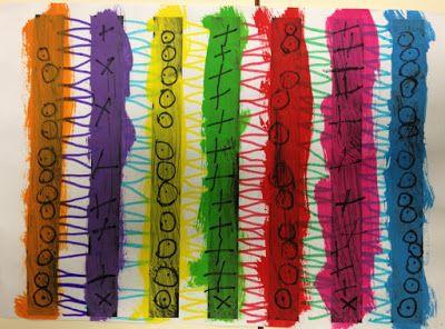 LA CLASE DE MIREN: mis experiencias en el aula: TALLER DE GRAFISMO: LÍNEAS QUEBRADAS Y ALGO MÁS