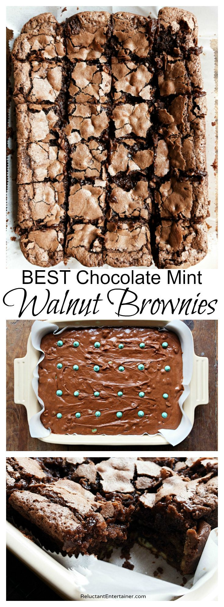 BEST Chocolate Mint Walnut Brownies
