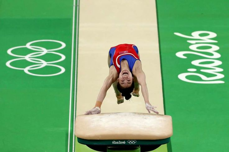 RIO DE JANEIRO, BRAZIL - AUGUST 14: Un Jong Hong of North Korea competes in the Women's Vault Final on Day 9 of the Rio 2016 Olympic Games at the Rio Olympic Arena on August 14, 2016 in Rio de Janeiro, Brazil. (Photo by Patrick Smith/Getty Images)