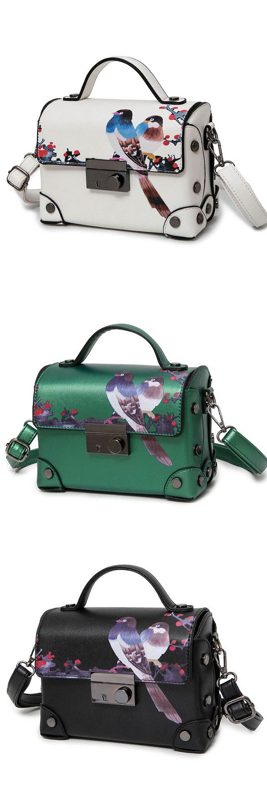 Item Type:Women Tote/Top handle bag/Shoulder bag/Handbag  100% Brand new.  Size: 20cm*9cm*14cm  Material: Quality PU leather  Color: Black ,White ,Green  Usage: Fashion women's handbag, the best gift for women  If there is any questions please ...