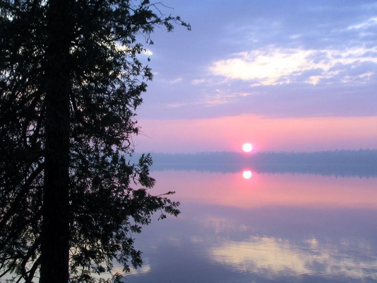 Sunrise in the Fall over Pigeon Lake