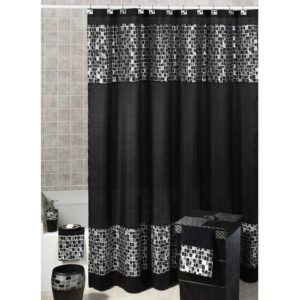 Red Black And Gray Shower Curtains