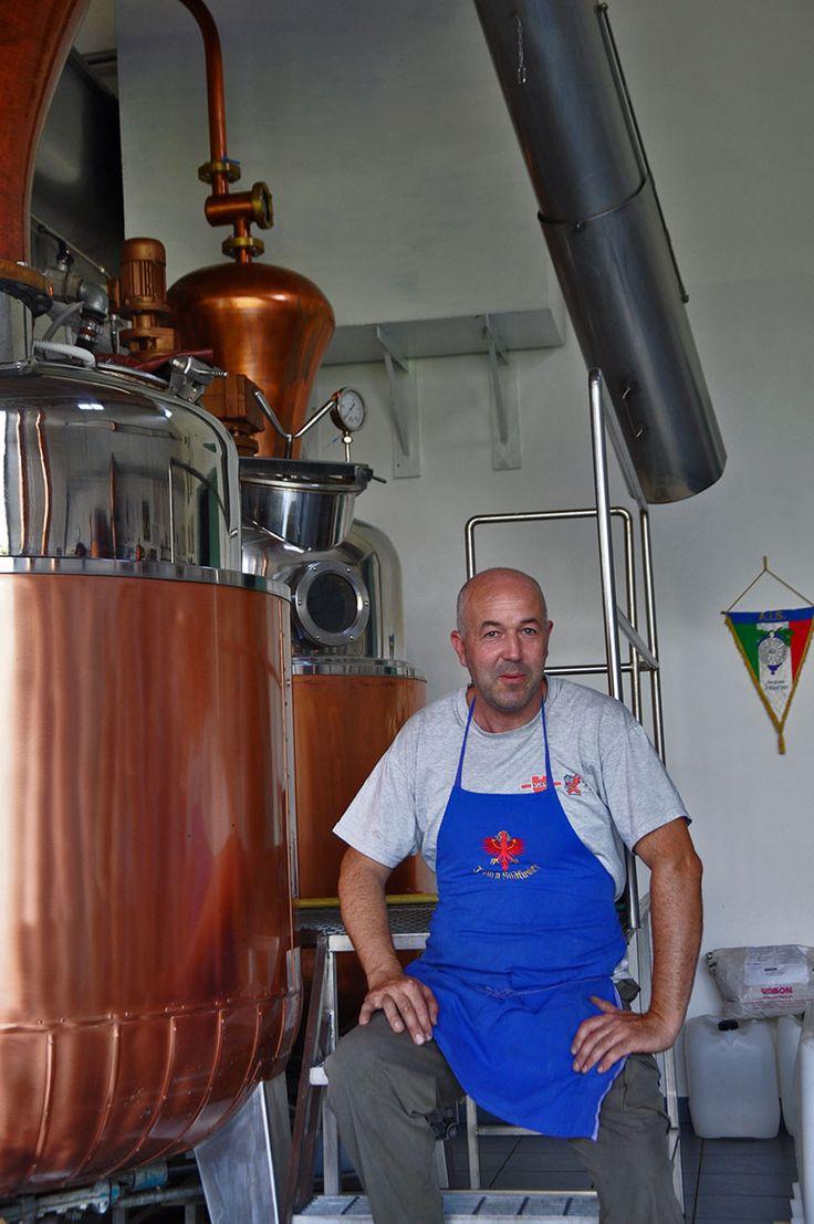 Ivano Pilzer in his distillery in Val di Cembra