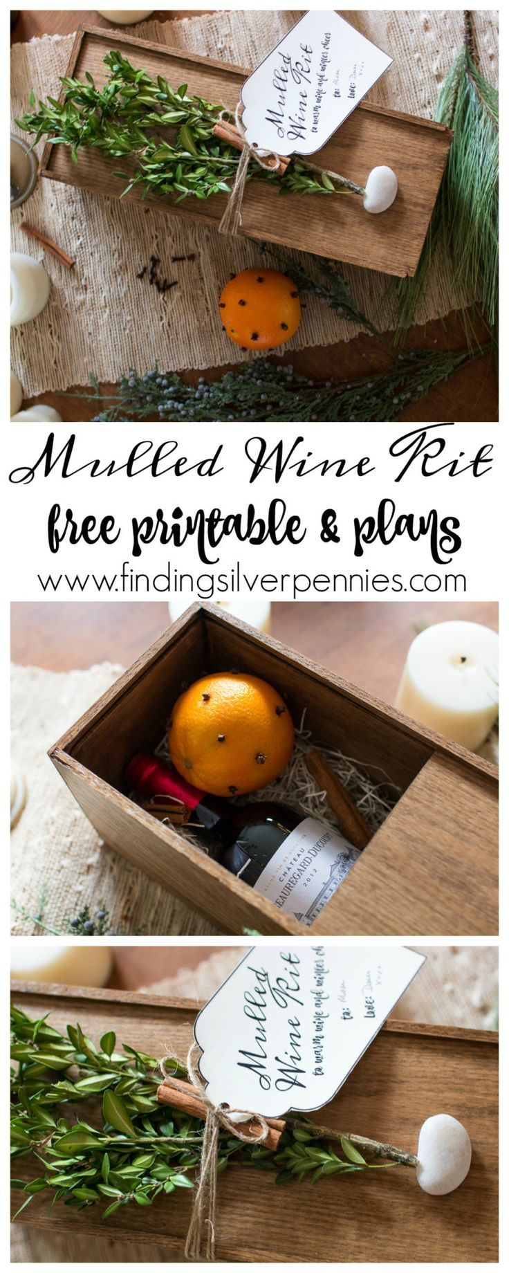 DIY Mulled Wine Kit with Gift Tag I Finding Silver Pennies