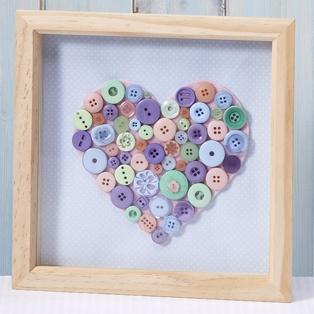 Ideas library button box frame hobbycraft altered for Inspirational valentine crafts
