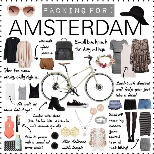 How to Pack for: Amsterdam by singingintherain-788 on Polyvore featuring Monki, H&M, Closed, T By Alexander Wang, River Island, Cami NYC, Mat, Oasis, SPANX and Lilliput & Felix